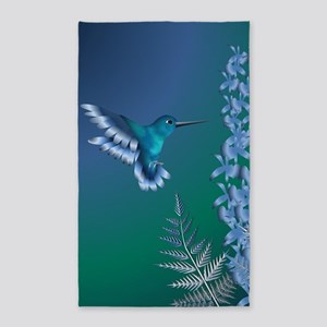 Iridescent Hummingbird Area Rug